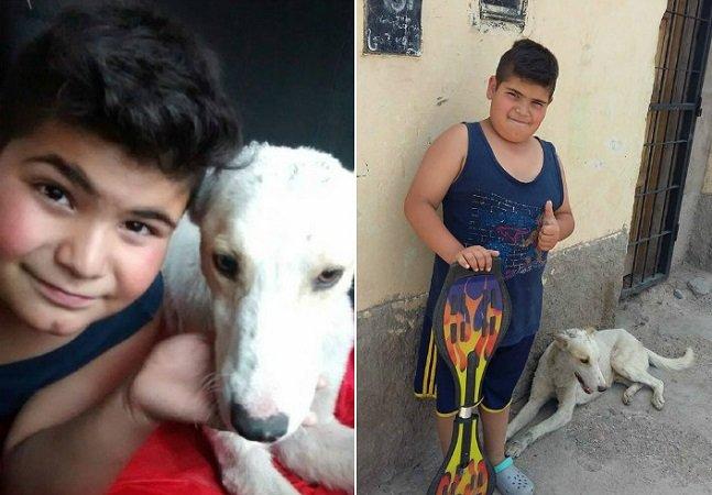 A história do menino que decidiu vender seu brinquedo favorito para ajudar um cão de rua