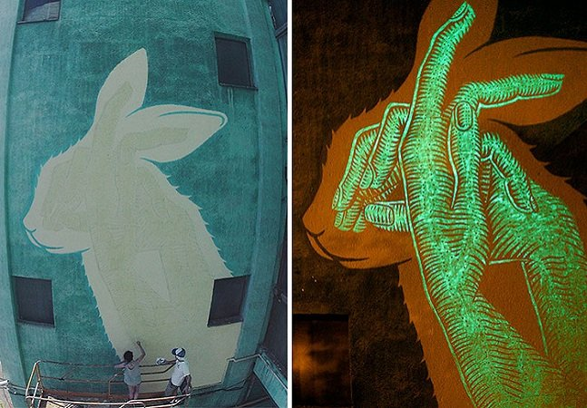 Grafites que brilham no escuro revelam segredos durante a noite