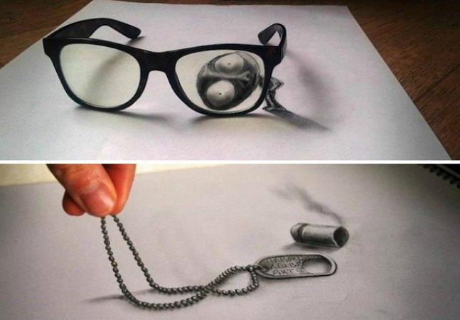 Esses desenhos 3D feitos com lápis vão te deixar de boca aberta