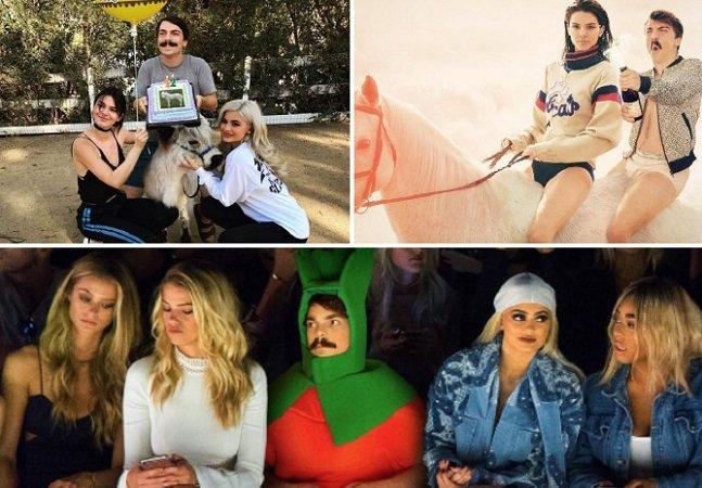 Fotógrafo acrescenta a si próprio em fotos de Kendall Jenner e o resultado é hilário