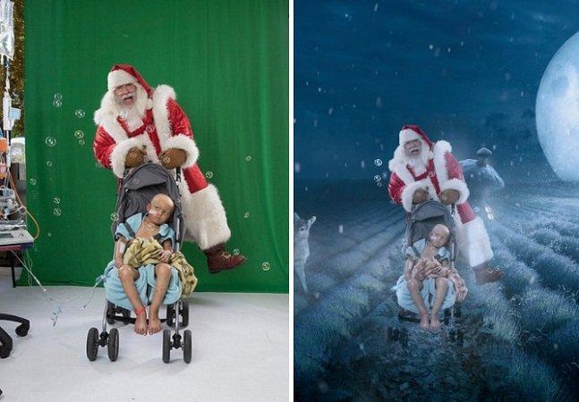 Fotógrafa 'leva' crianças com doenças graves a um Natal mágico