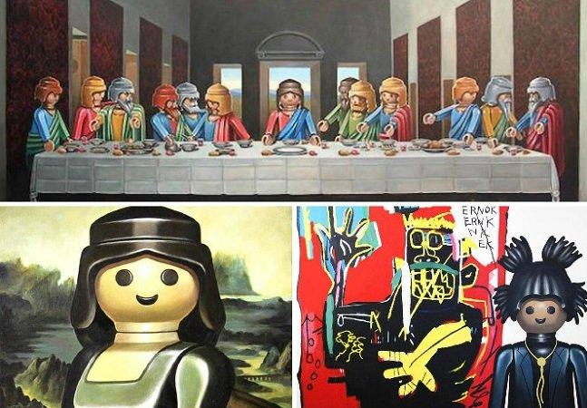 Nostalgia: artista recria obras de artes famosas com os bonecos Playmobil