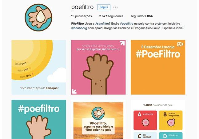 #poefiltro: Ação combate o câncer de pele com ajuda do Instagram