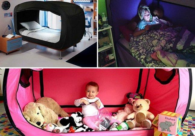 Esta cama-tenda vai realizar seus sonhos de infância