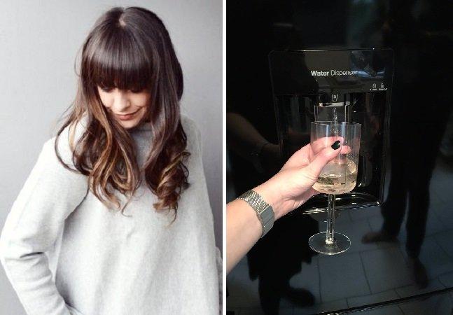 Revolucionário: mulher inventa truque para que sua geladeira solte vinho e vira fenômeno na web