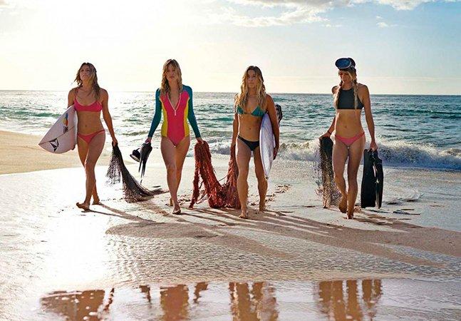 Marca lança linha feminina de roupas de banho feitas com plástico dos oceanos