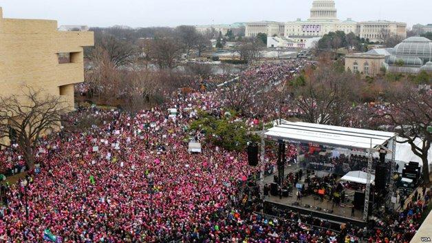 Imagem da Marcha das Mulheres em Washington