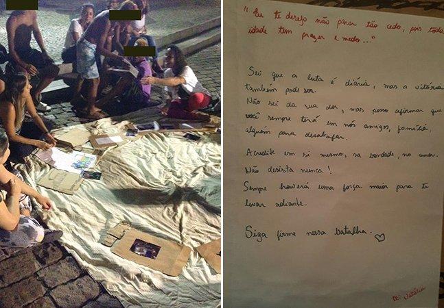 Pessoas em situação de rua de cidades do Brasil trocam cartas falando sobre a vida na rua, a esperança e o amor