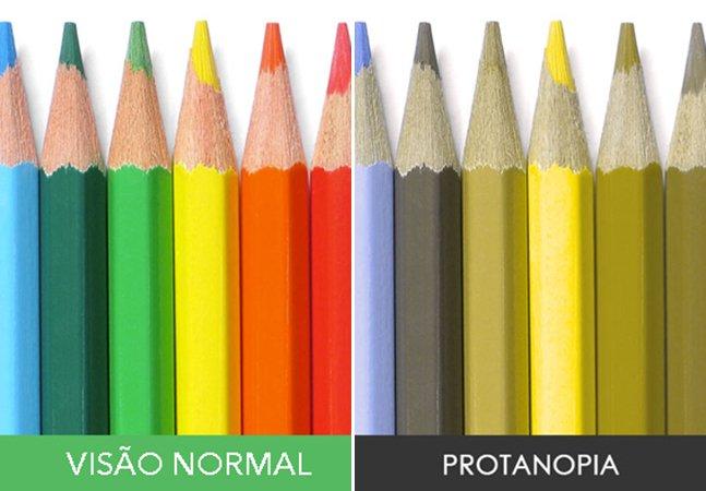 É assim que as pessoas daltônicas veem o mundo das cores