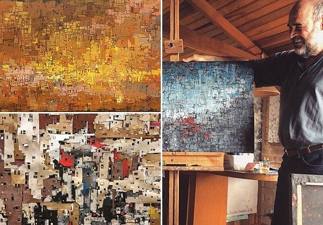 Artista retrata expansão das grandes cidades e suas periferias em série de pinturas cheias de cor e textura
