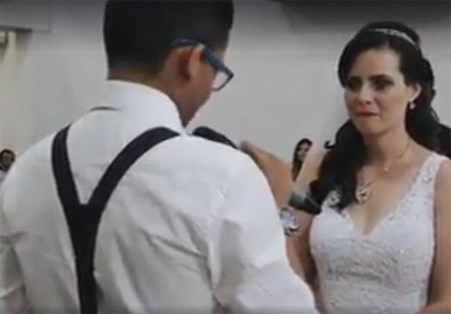 Vídeo mostra noivo declamando votos de forma descontraída e hilariante e vira sensação na internet