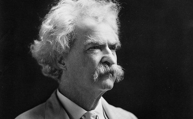 O escritor americano Mark Twain