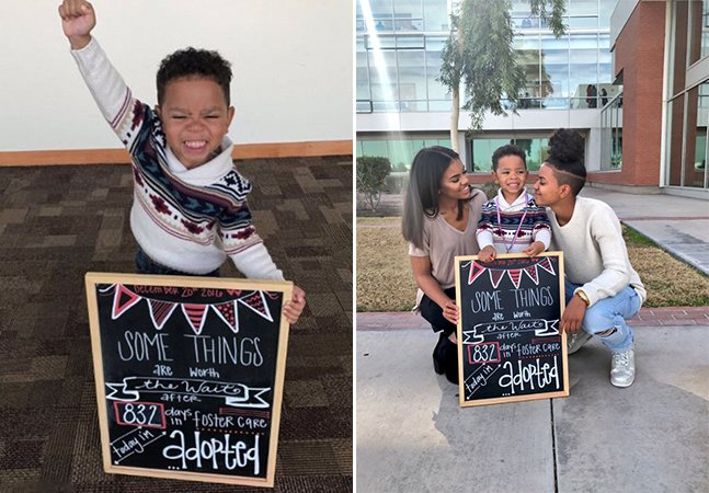 A felicidade desse menino após 832 dias de espera para ser adotado é o melhor mote para 2017