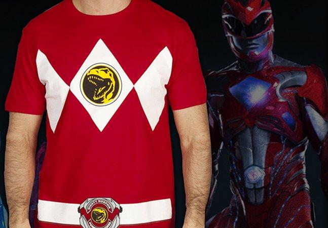 Marca de roupas lança linha de camisetas dos Power Rangers