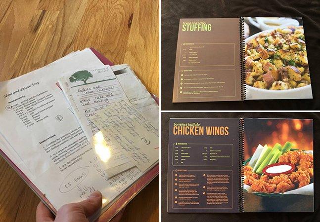 Designer refaz o livro de receitas da mãe e o resultado ativa as habilidades na cozinha de qualquer um