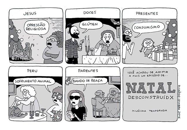 As tirinhas ácidas e sem medo dos temas polêmicos do cartunista Ricardo Coimbra