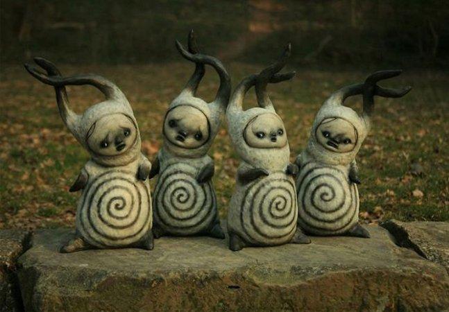 Misteriosas criaturas dos sonhos são materializadas em esculturas pelo artista Scott Radke