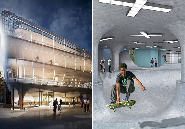 O primeiro edifício de skatepark do mundo tem 5 andares, deve abrir em breve e é incrível