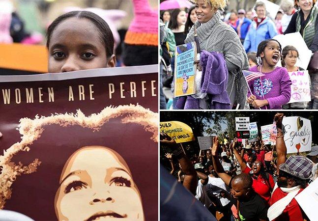 Série de fotos inspiradora mostra como foi a 'Marcha das Mulheres' ao redor do mundo