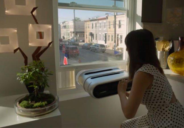O ar condicionado do futuro não ocupa espaço e pode ser instalado por qualquer um