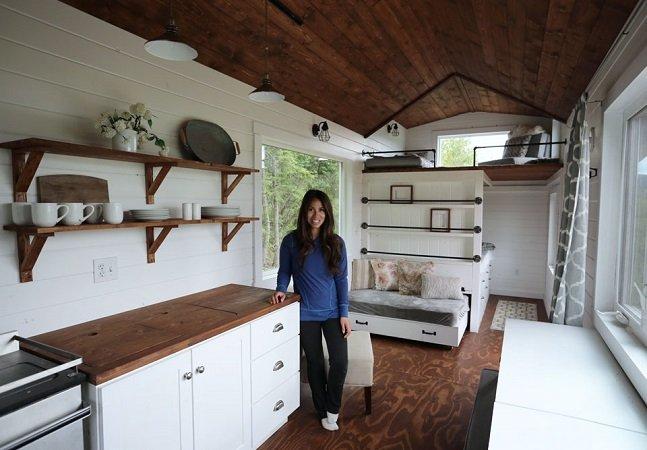 Blogueira DIY constrói 'mini casa' e disponibiliza planta de graça pra quem quiser reproduzir a façanha
