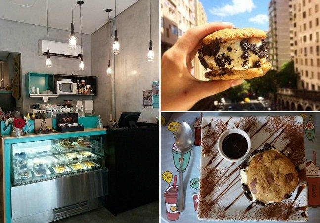 #FoodPorn: fomos experimentar este sanduíche de cookies com sorvete de Oreo em Porto Alegre