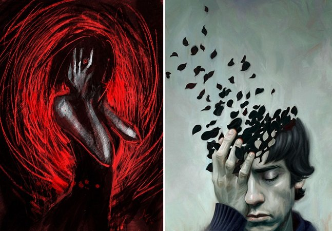 O que acontece quando diversos artistas tentam retratar a angústia da depressão