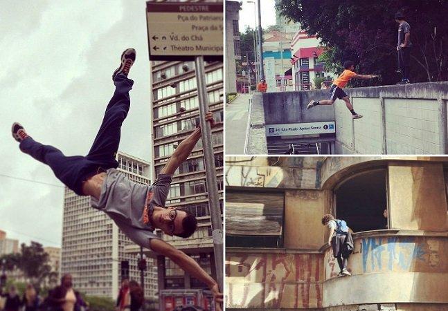 Grupo promove prática de parkour pelas ruas de São Paulo