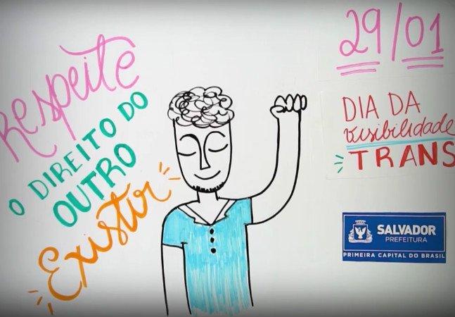 A prefeitura de Salvador fez um vídeo simples e perfeito sobre o que é ser trans