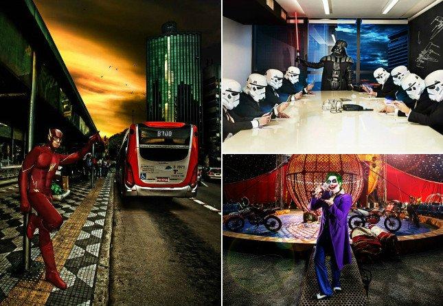 Brasileiros criam projeto fotográfico divertido que discute os limites entre ficção e realidade