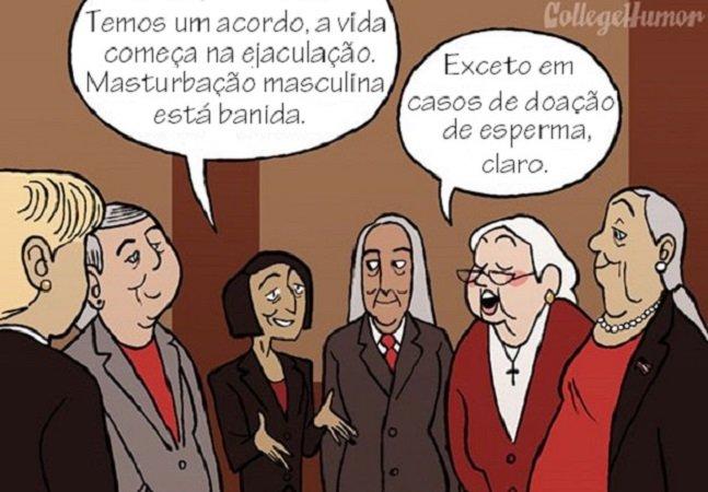 Quadrinhos mostram como seria se os governos fossem de mulheres agindo da mesma forma que os homens agem com elas