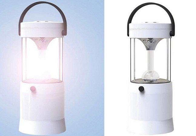 A água salgada é o combustível que mantém esta lâmpada acesa por 80 horas