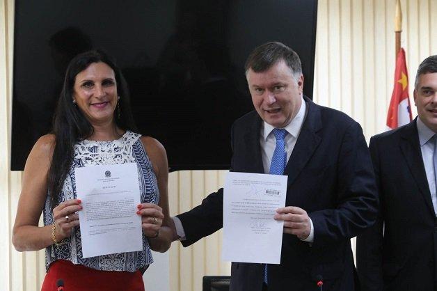 cerimônia da primeira certidão com nome social para a advogada Márcia Rocha, pleito antigo da OAB SP.  Evento realizado na sede da entidade. Data: 09/01/2017 - Local: São Paulo/SP - Foto: José Luis da Conceição/OABSP
