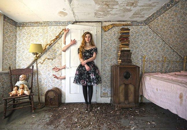 Artista transforma espaços abandonados em misteriosos mundos de fantasia