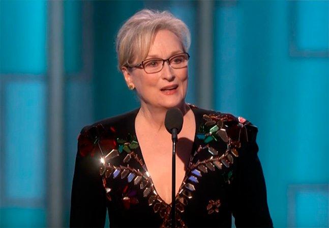 O maravilhoso discurso anti-ódio de Meryl Streep foi o melhor momento da gala do Globo de Ouro