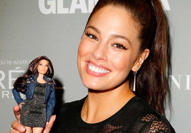 Mattel adota Ashley Graham como modelo para criar maravilhosa Barbie com curvas