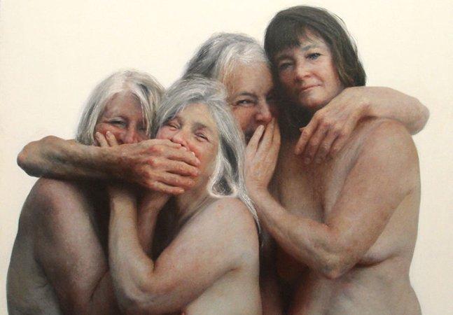 Artista pinta retratos crus de pessoas nuas para mostrar como realmente somos quando tiramos as roupas [NSFW]
