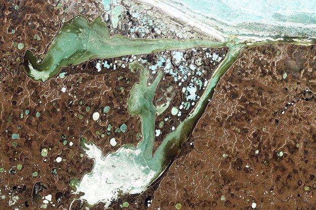 A camada subterrânea de gelo permanente