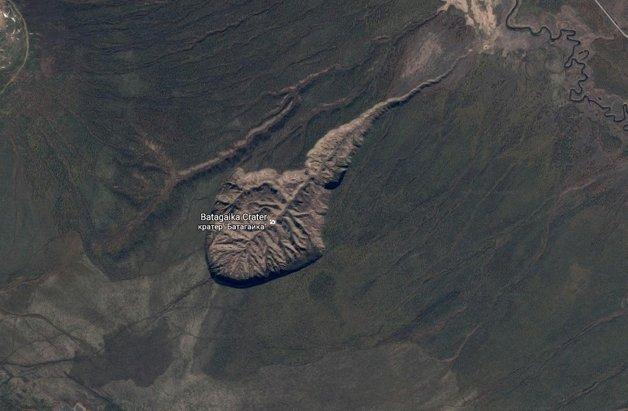 Imagem de satélite da cratera