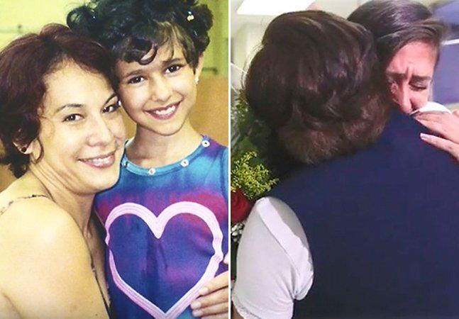 O emocionante reencontro entre uma menina que teve leucemia e a enfermeira que cuidou dela em Curitiba