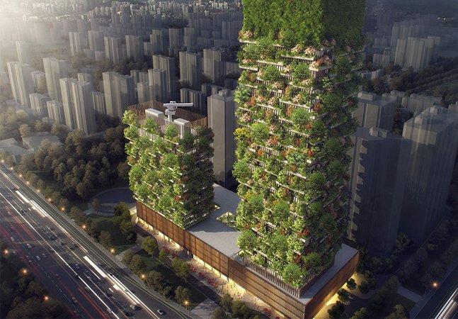 Primeira floresta vertical da Ásia terá 3 mil plantas e capacidade de gerar 60 Kg de oxigênio por dia