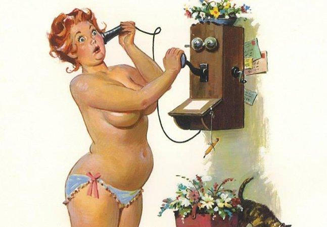 Série de ilustrações vintage revela Hilda, a pin-up plus size dos anos 50