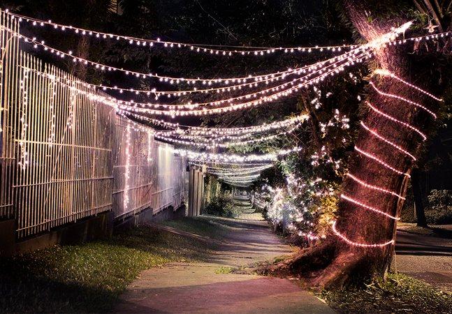 Projeto usa luzes de Natal que seriam descartadas para iluminar ruas escuras e perigosas das cidades