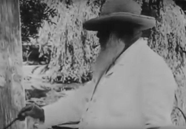 [Vídeo] Registro raro mostra Monet pintando suas famosas ninféias