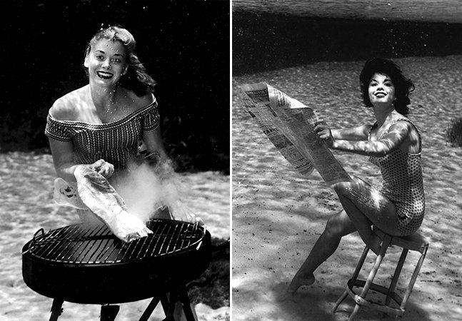 Esse ensaio subaquático feito com modelos pin-up nos anos 30 é pura magia