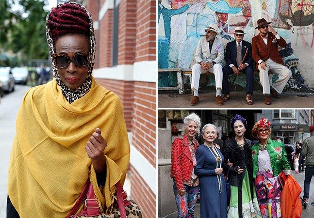 Blog de estilo usa fotografia para registrar idosos super estilosos
