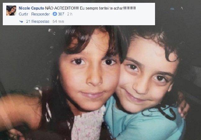 Maravilhas da internet: essas amigas de infância se reencontraram graças ao FB