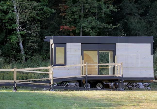 Pequenas casas móveis oferecem privacidade à pessoas com deficiência que precisam viver perto da família