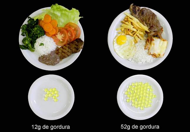 Nutricionistas de Ribeirão usam imagens para mostrar que o importante não é comer menos e sim comer melhor