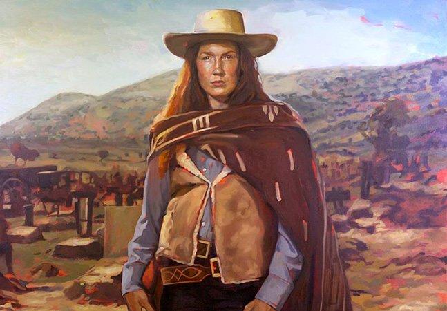 Artista cria versão feminina de cowboys famosos do cinema